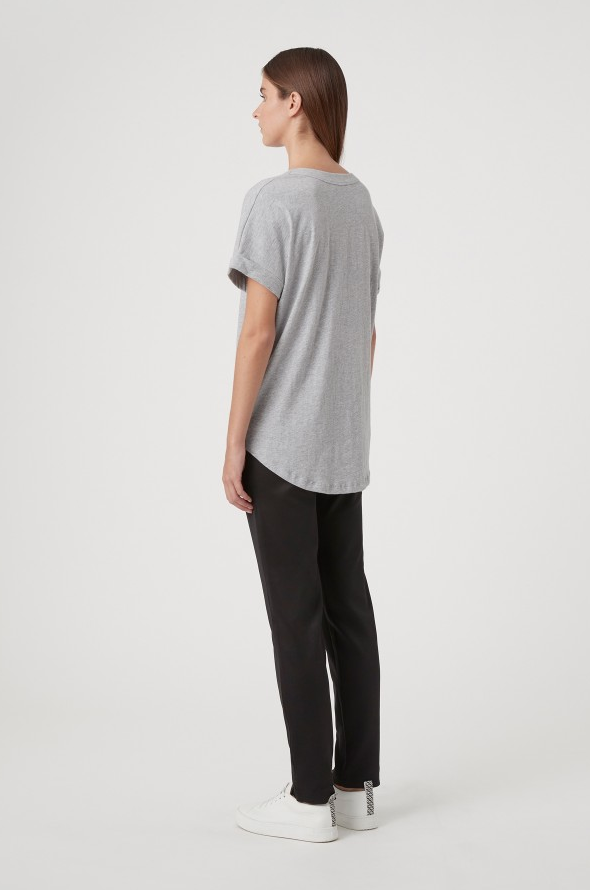C&M Huntington Tee in Grey Marle with Black