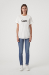 C&M Huntington Tee in White with Black