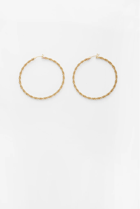 Reliquia Enveloping Hoops in Gold