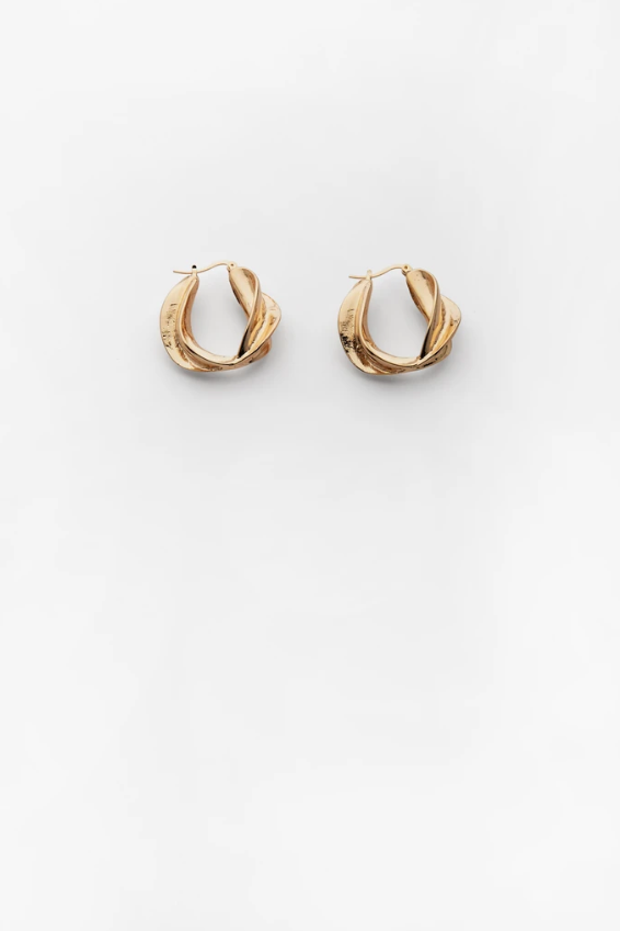 Reliquia Sunset Hoops in Gold