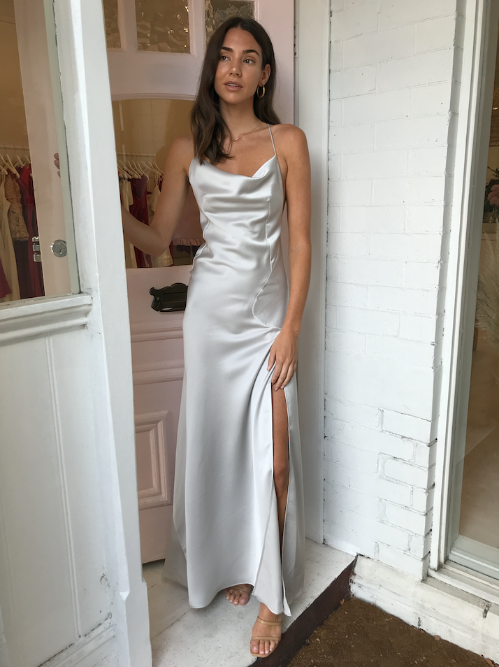 One Fell Swoop Spenser Maxi Dress in Silver