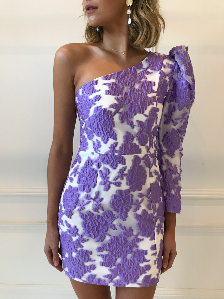 Nicola Finetti Eddy Long Sleeved Dress in Lilac