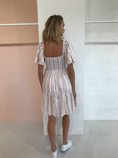 Steele Kelly Dress in Quartz Stripe