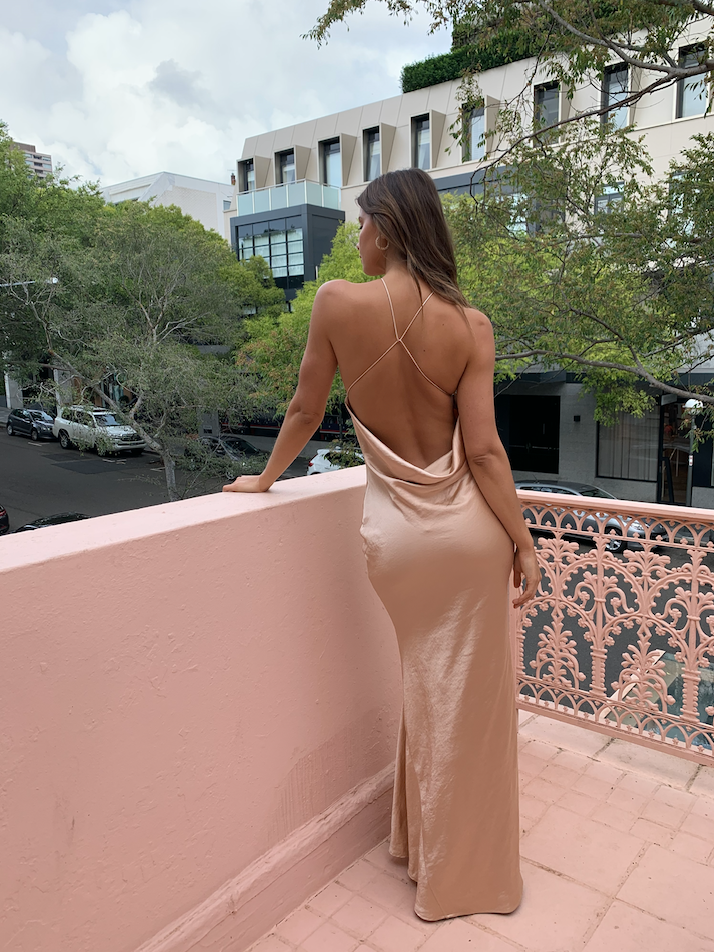 One Fell Swoop Cleo Maxi Dress in Duchess Gold