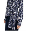 Rebecca Vallance Lola Wrap Top in Navy Print
