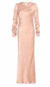 Shona Joy Long Sleeve Bias Midi Dress in Desert Rose