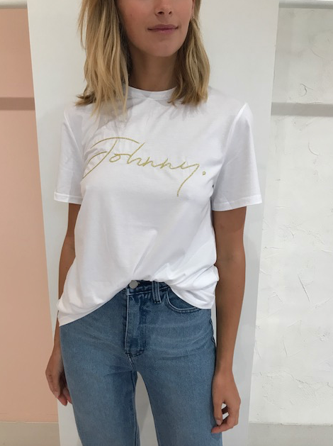 By Johnny Johnny Shine Embroidery Tee