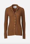 Viktoria and Woods Gemini Rib Cardi in Toffee