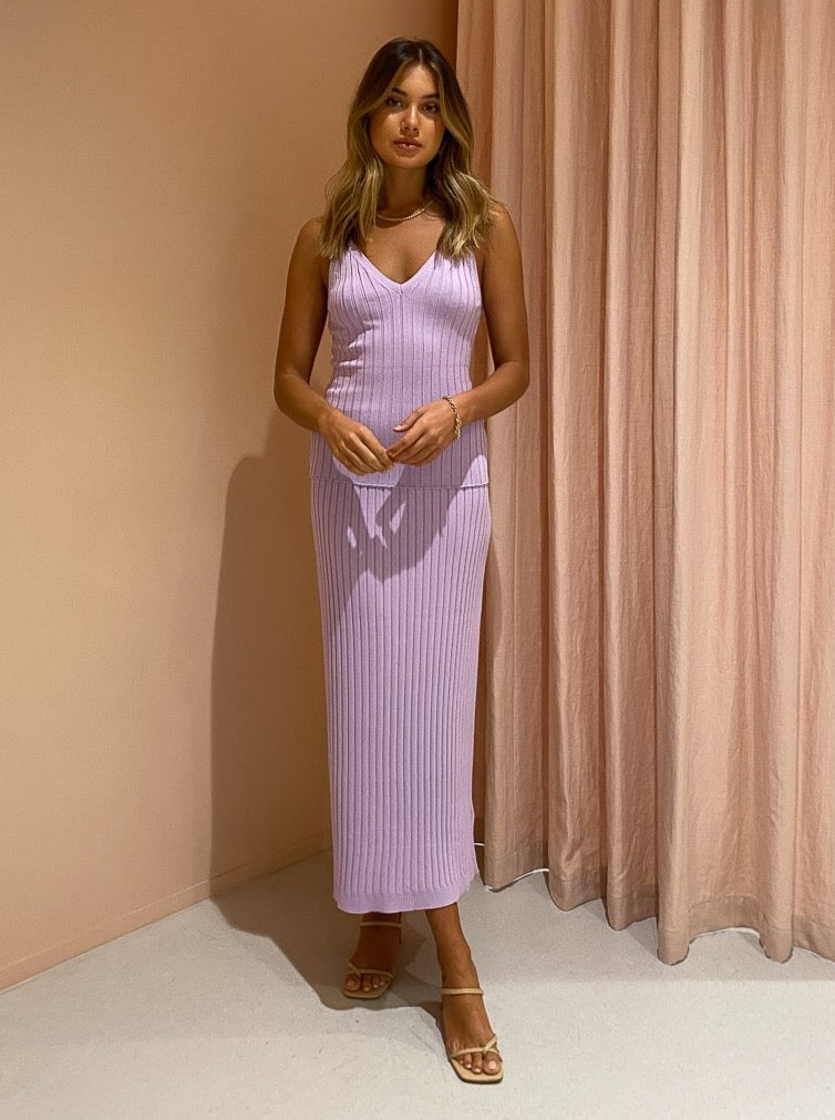 Significant Other Ariana Knit Skirt in Lilac