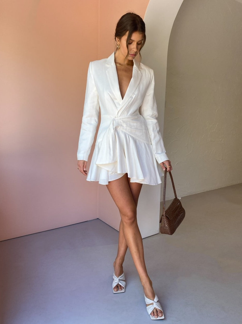 Significant Orchid Blazer Dress in Ivory