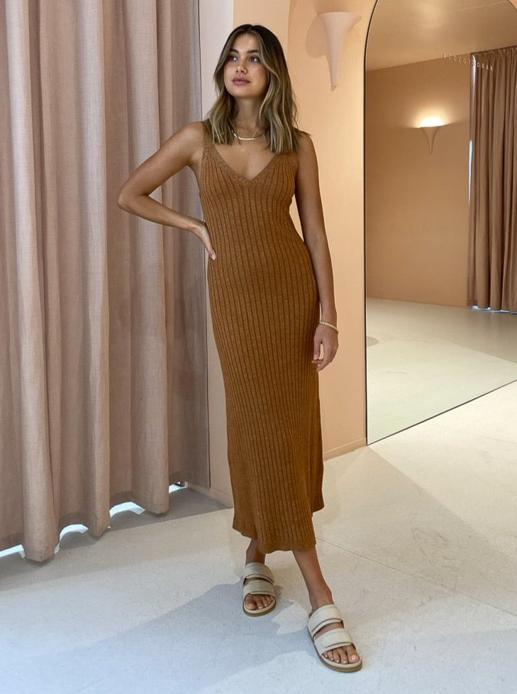 Significant Other Goldie Knit Dress in Mocha