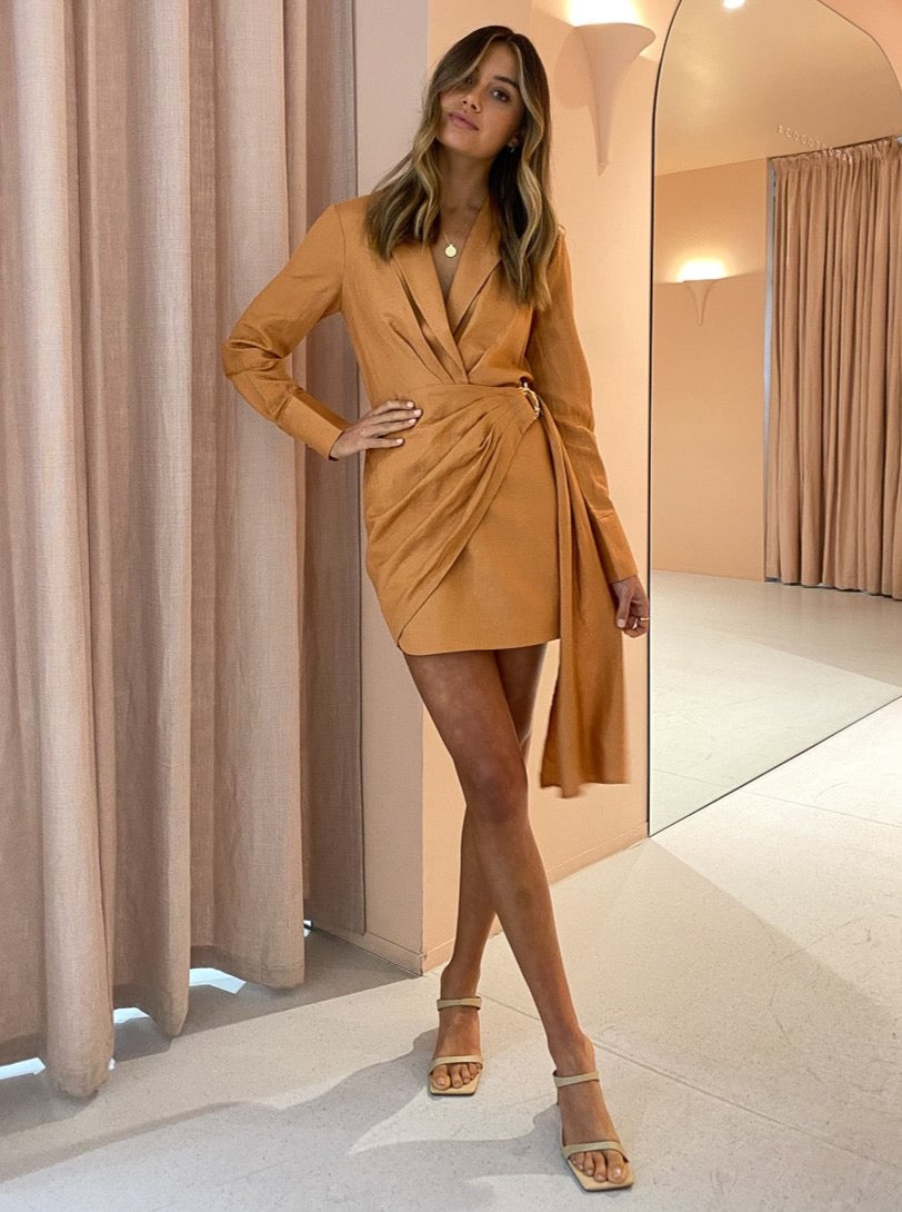 Significant Other Cecile Dress In Caramel