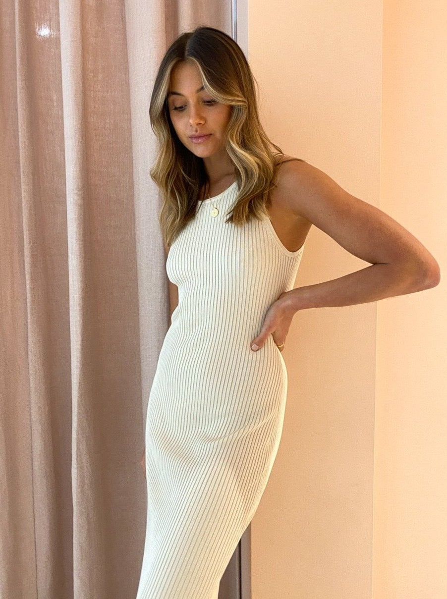 Significant Other Sofia Knit Dress In Cream