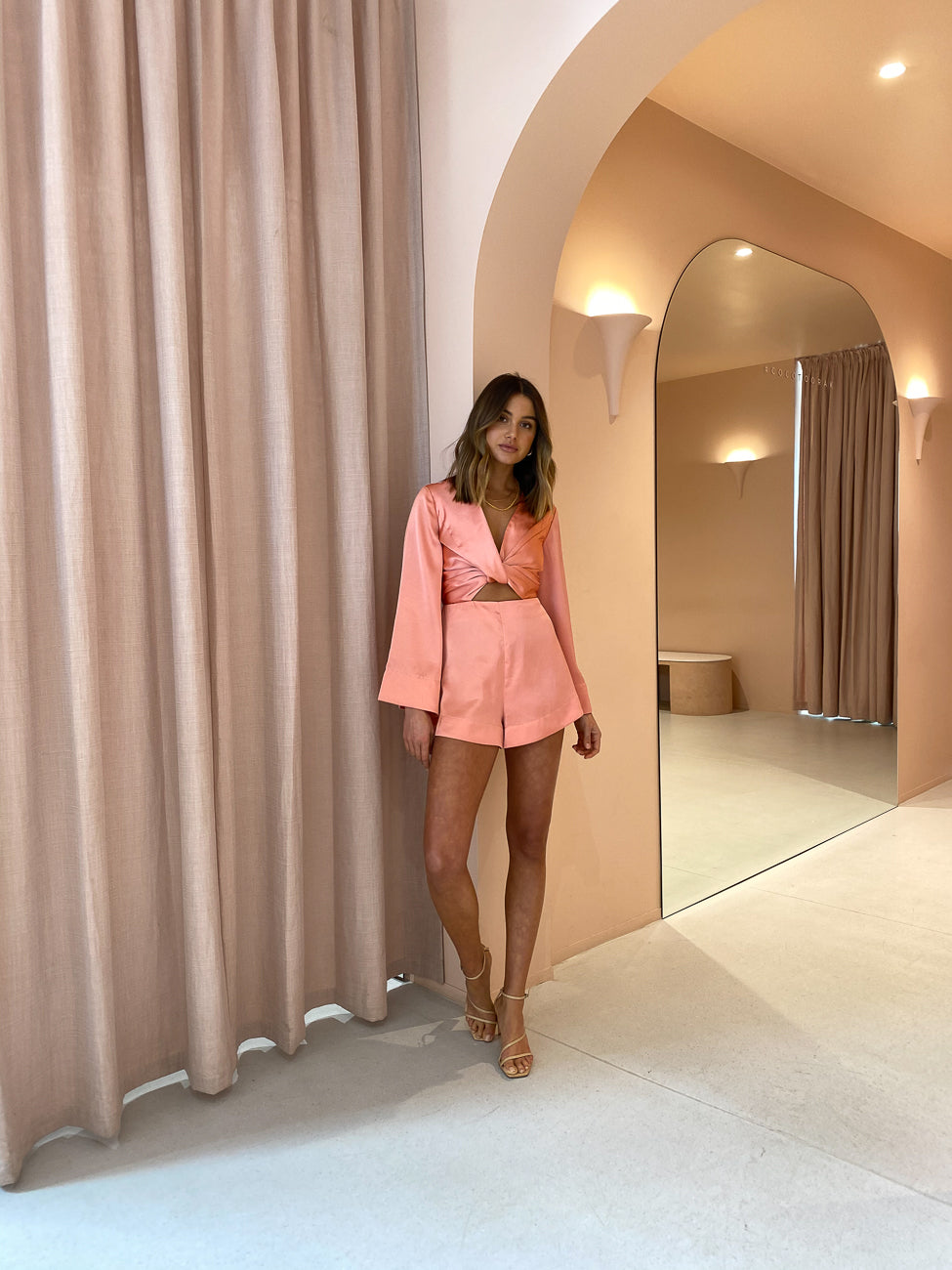 Significant Other Palma Romper in Rose