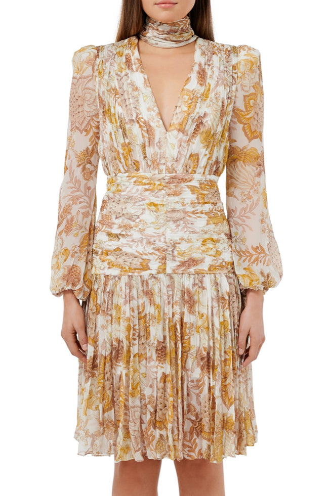 Thurley Saffie Print Dress in Ivory Chateau Floral