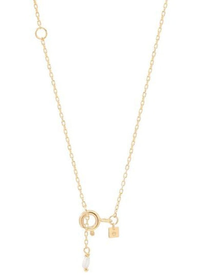 By Charlotte 14k Gold Love R Necklace in Gold