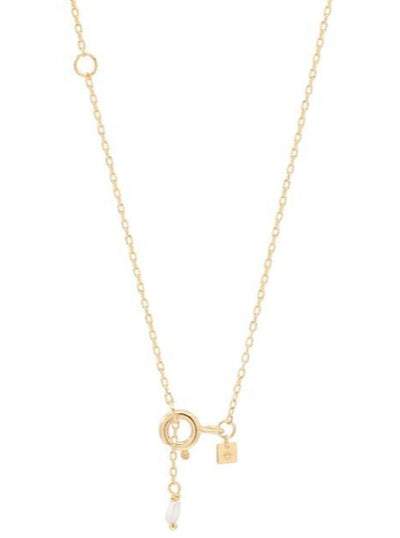 By Charlotte 14k Gold Love K Necklace in Gold