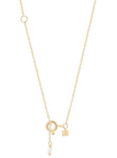 By Charlotte 14k Gold Love E Necklace in Gold