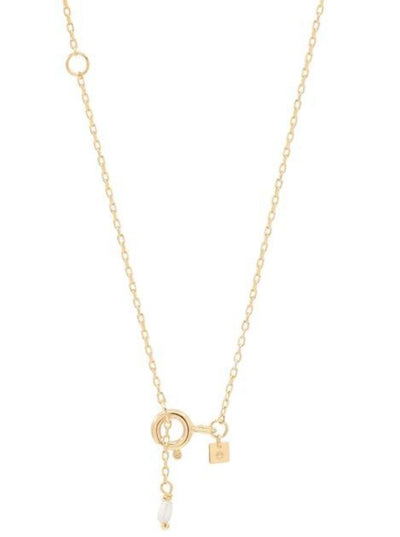 By Charlotte 14k Gold Love P Necklace in Gold
