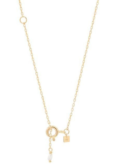 By Charlotte 14k Gold Love M Necklace in Gold