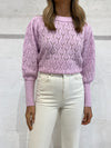 Steele Jolene Knit in Violet Pointelle