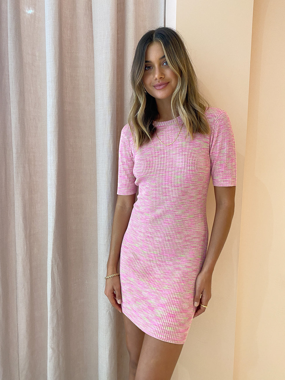 Hansen & Gretel Hurley Dress in Electric Pink