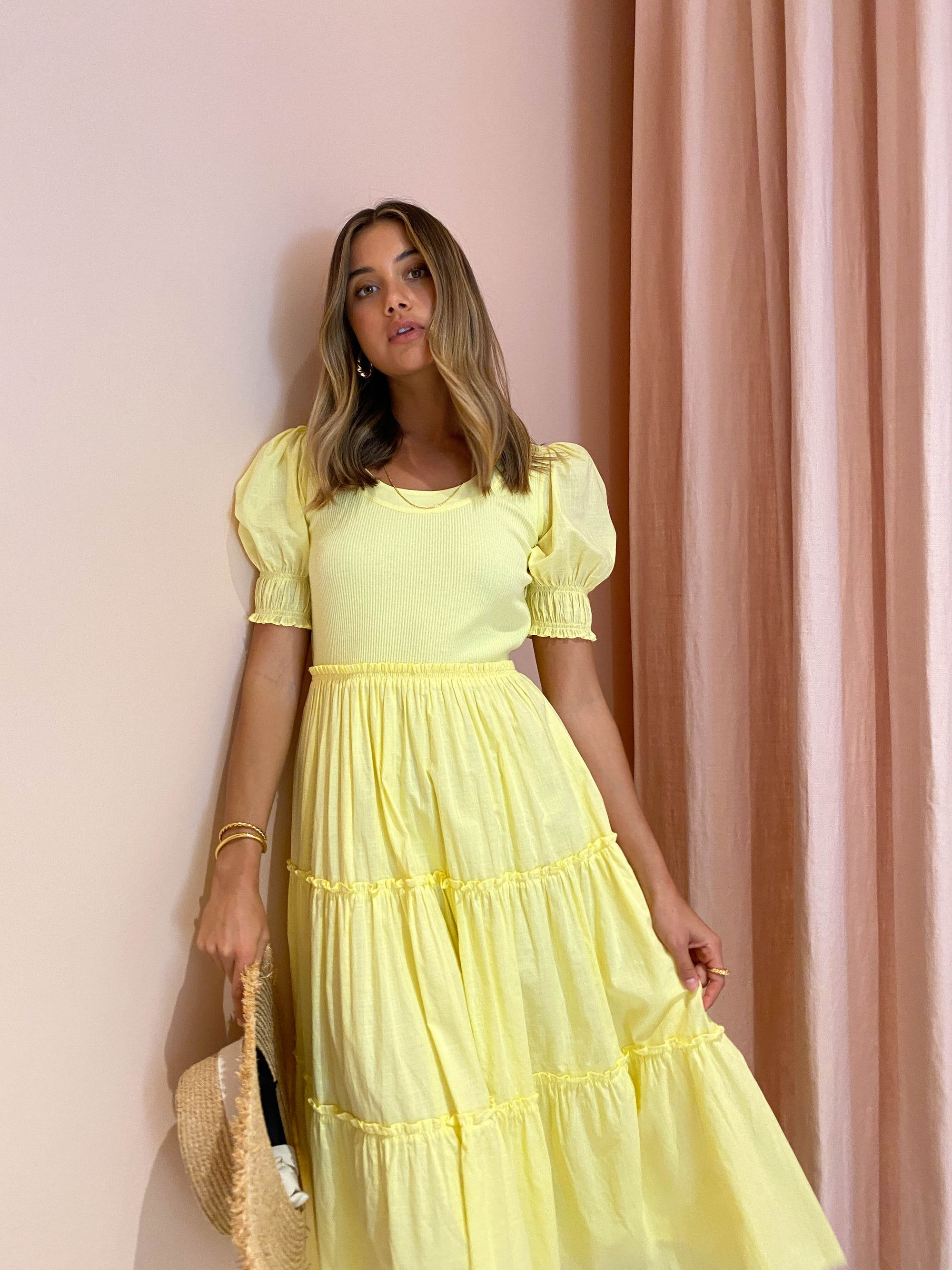 Steele Camille Dress in Buttercup