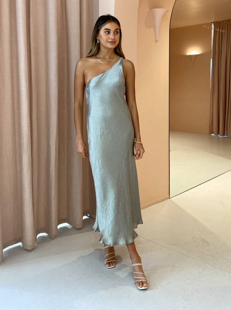 Third Form Waters Edge One Shoulder Maxi in Sage