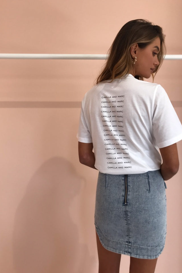 Camilla and Marc George Tee in Soft White