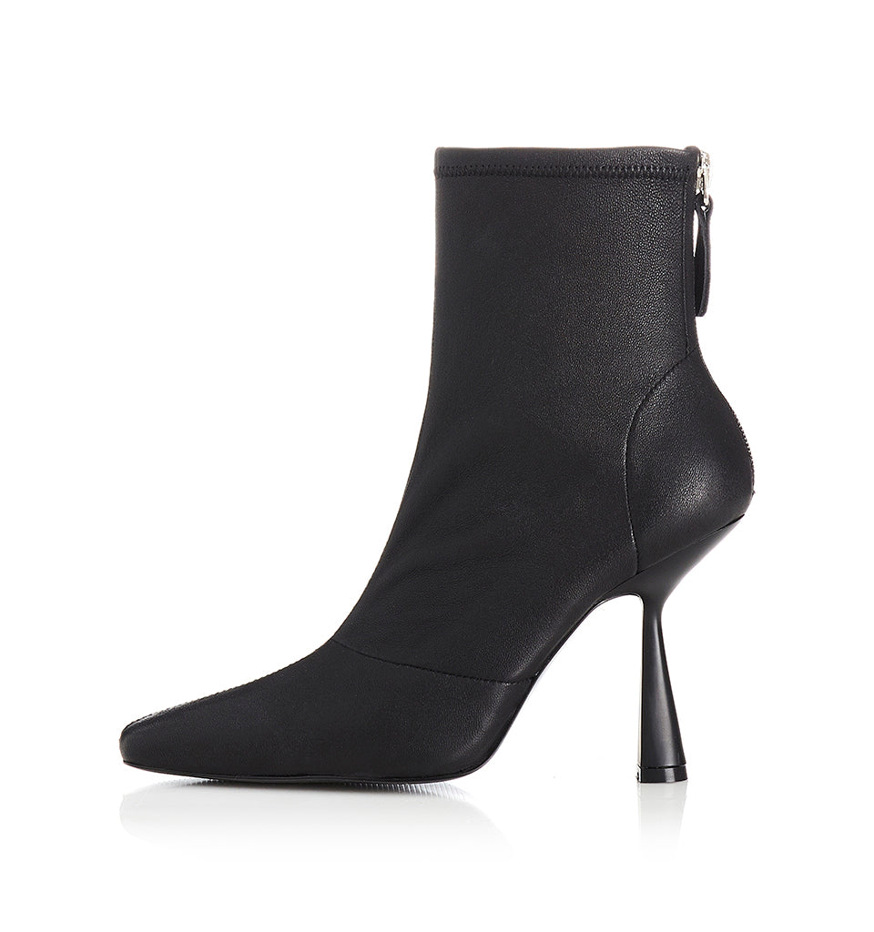 Alias Mae Vienna Ankle Boot in Black Stretch Leather