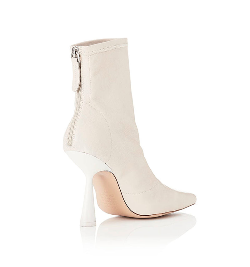 Alias Mae Vienna Ankle Boot in Bone Stretch Leather