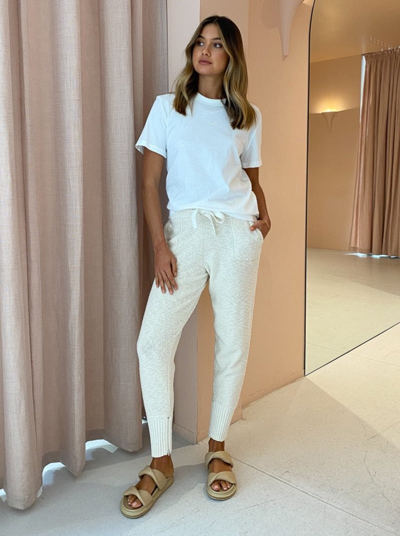 Viktoria & Woods Routine Track Pant in Ivory