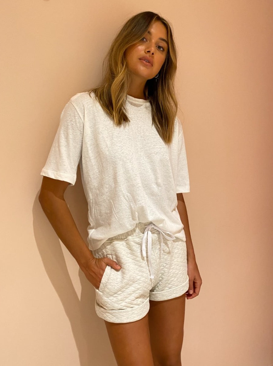 Viktoria & Woods Convict Short in Ivory Marl