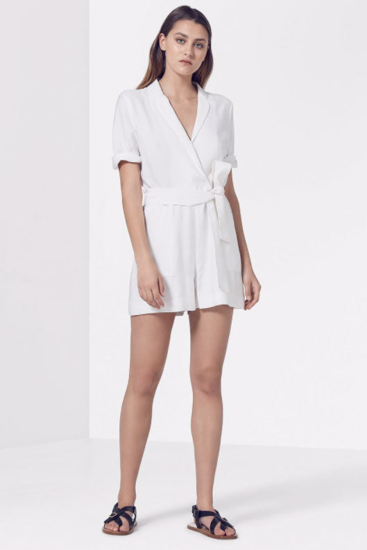 Viktoria and Woods Cavalier Playsuit in Ivory