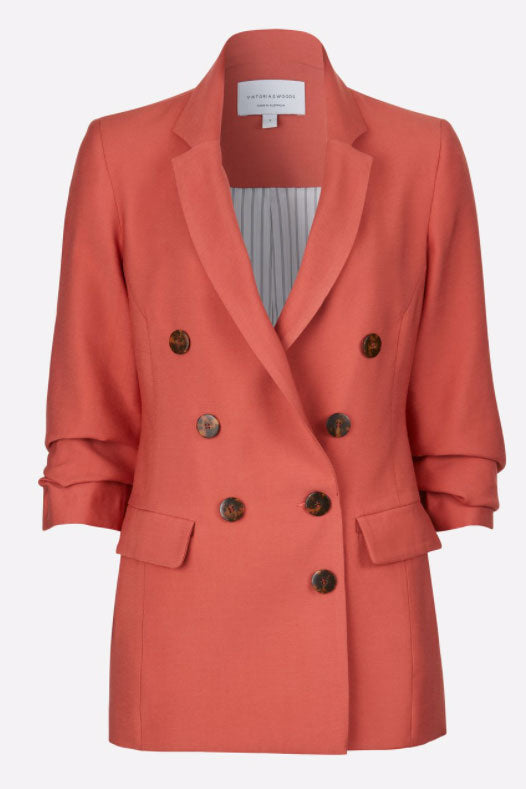 Viktoria and Woods Impressionist Blazer in Brick