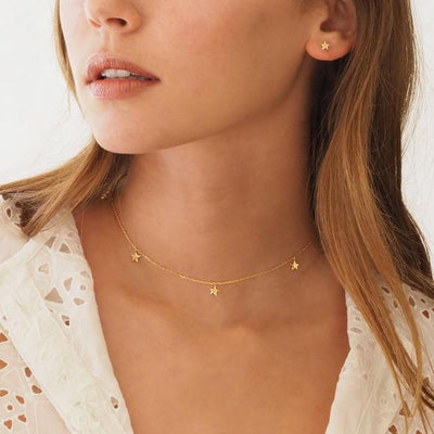 By Charlotte Gold Star Bright Necklace in Gold