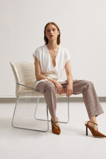 Acler Woodhouse Pant in Clay Check