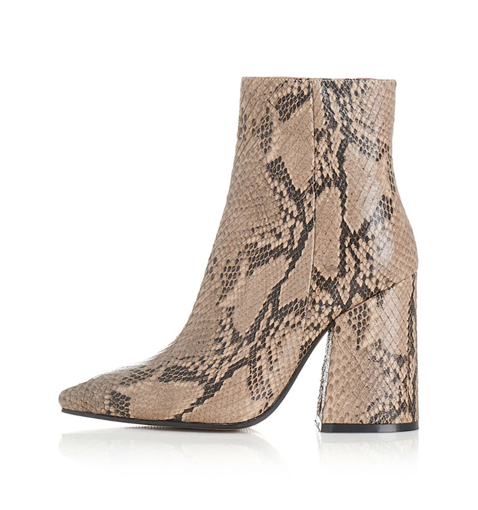 Alias Mae Ahara Boot in Beige Snake Leather