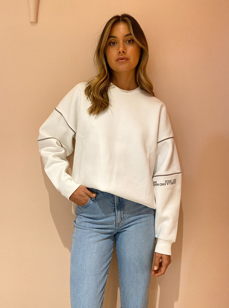 Camilla And Marc Sylvie Crew 2.0 In Soft White