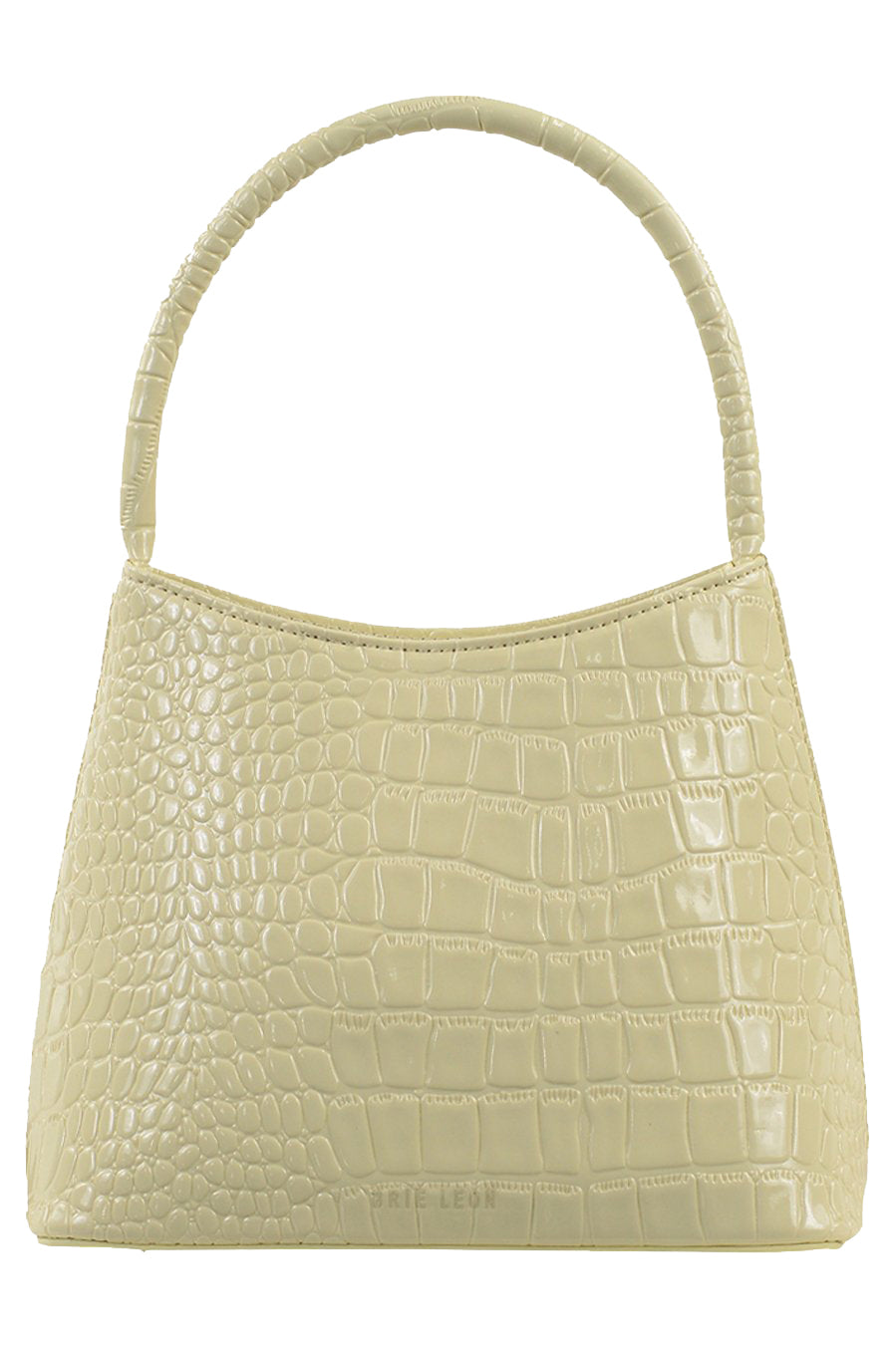Brie Leon Chloe Bag in Bone Oily Croc