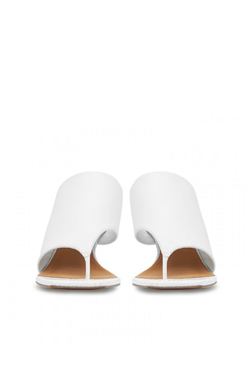 Camilla and Marc Harper Mule in White