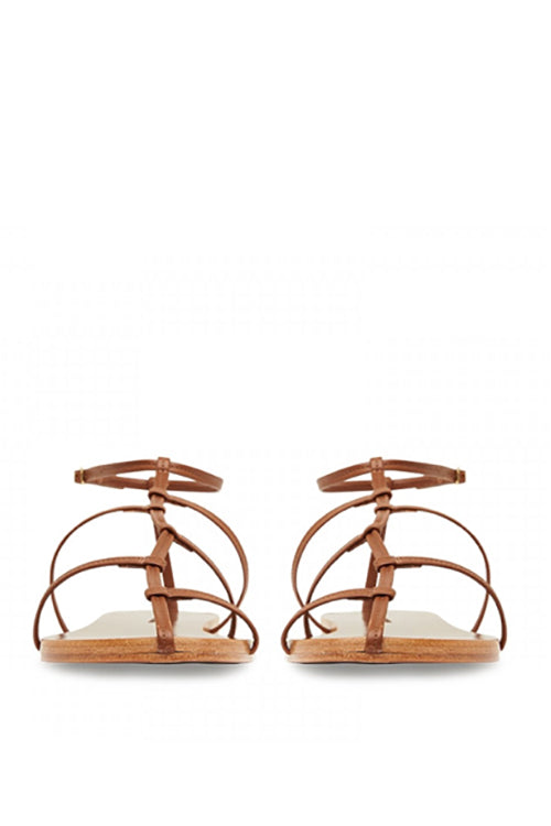 Camilla and Marc Balley Flat Sandal in Tan