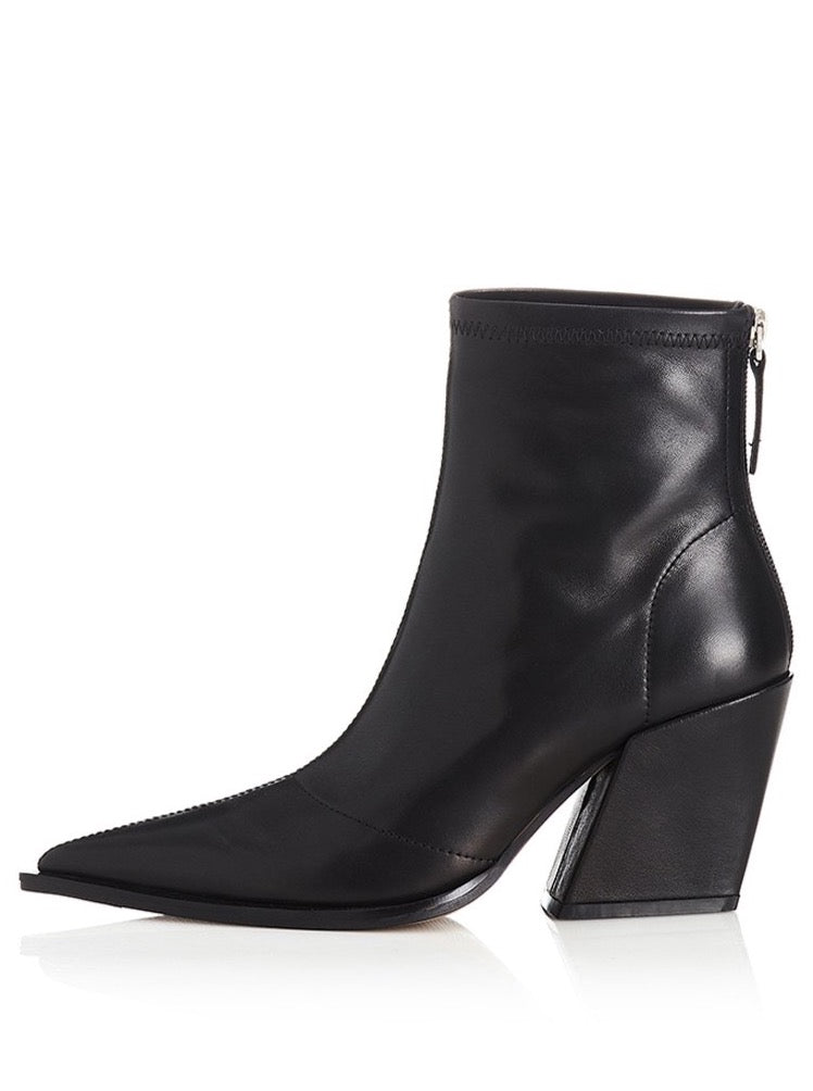Alias Mae Knife Ankle Boot in Soft Black Leather