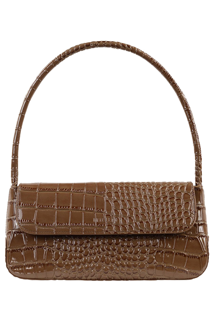 Brie Leon Camille Bag in Mocha Oily Croc