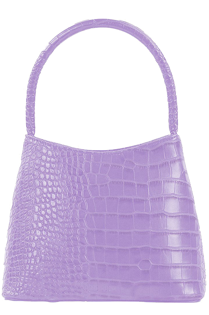 Brie Leon Mini Chloe Bag in Lilac Croc