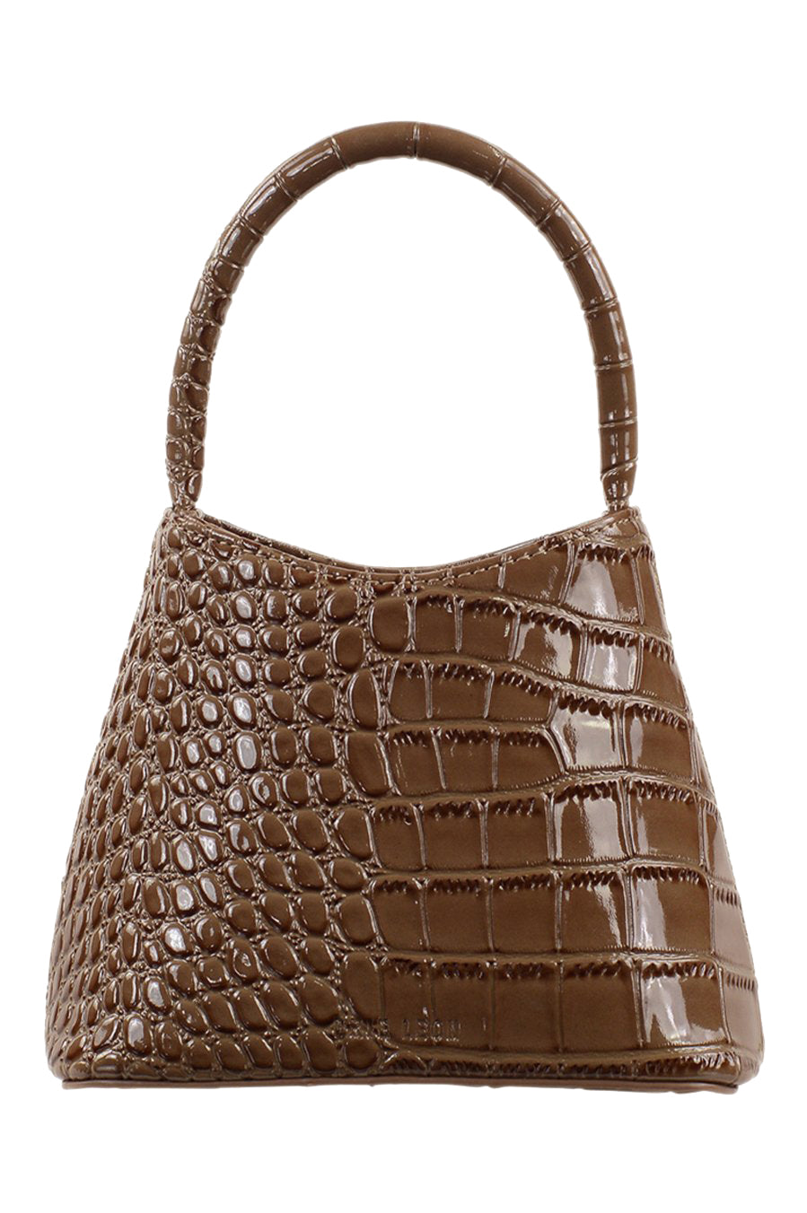 Brie Leon Mini Chloe Bag in Mocha Oily Croc