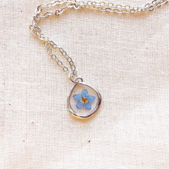 Sterling Silver Forget-Me-Not Necklace