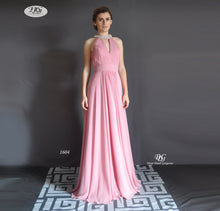 Load image into Gallery viewer, High Neck Sleeveless Formal Dress in Dusty Pink Style 1604 by Miracle Agency