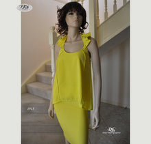 Load image into Gallery viewer, Frill Halter Neck Top in Yellow Style 1913 Size 8