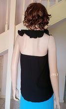 Load image into Gallery viewer, Frill Halter Neck Top in Black Style 1913 Size 8